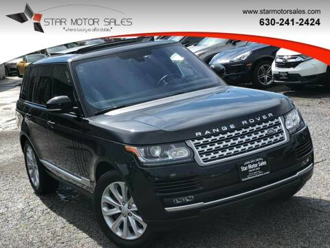 2016 Land Rover Range Rover for sale at Star Motor Sales in Downers Grove IL