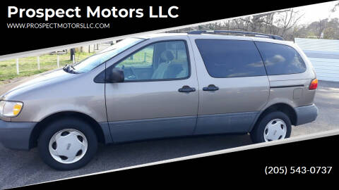 1998 Toyota Sienna for sale at Prospect Motors LLC in Adamsville AL