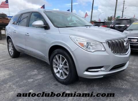 2015 Buick Enclave for sale at AUTO CLUB OF MIAMI in Miami FL