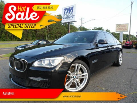 2015 BMW 7 Series for sale at AUTOTYM INC in Fredericksburg VA