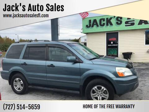 2005 Honda Pilot for sale at Jack's Auto Sales in Port Richey FL