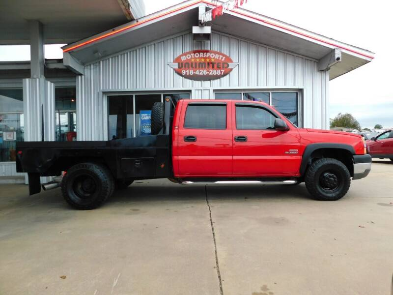 2004 Chevrolet Silverado 3500 for sale at Motorsports Unlimited in McAlester OK