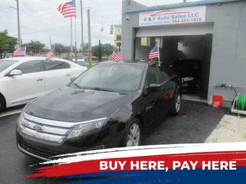 2012 Ford Fusion for sale at K & V AUTO SALES LLC in Hollywood FL