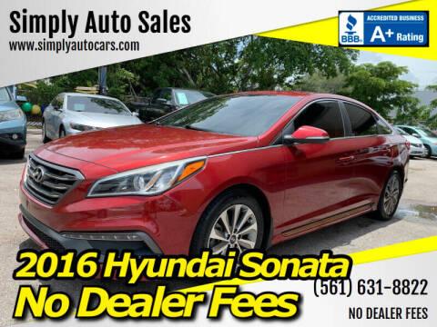 2016 Hyundai Sonata for sale at Simply Auto Sales in Palm Beach Gardens FL