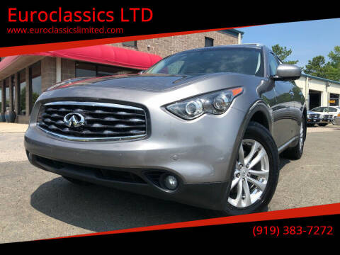 2010 Infiniti FX35 for sale at Euroclassics LTD in Durham NC