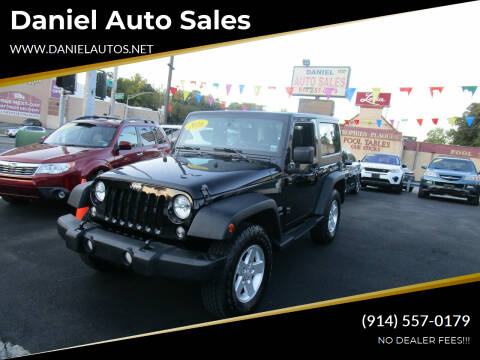 2016 Jeep Wrangler for sale at Daniel Auto Sales in Yonkers NY