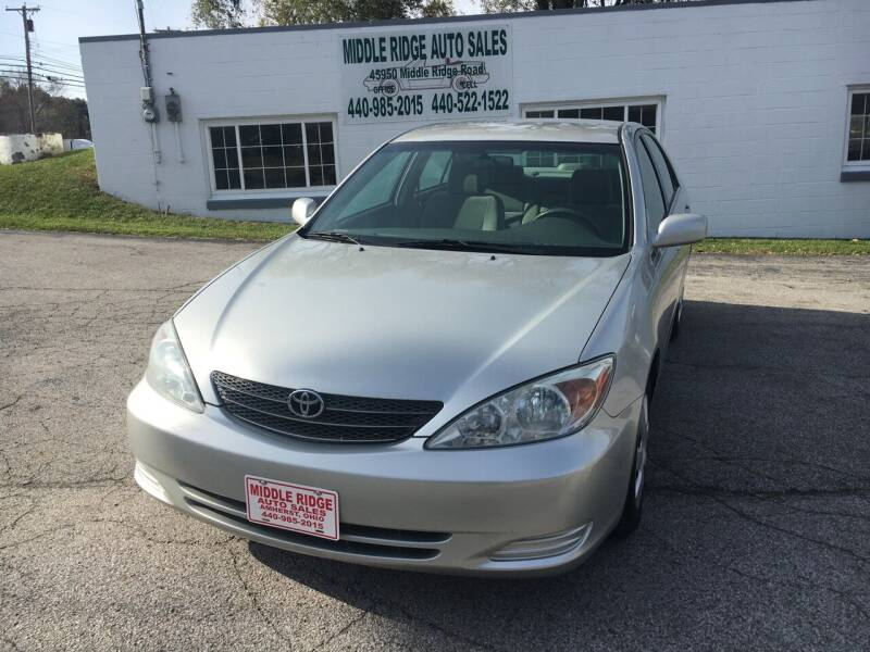 2004 Toyota Camry for sale at Middle Ridge Auto Sales in Amherst OH