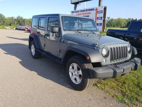 2014 Jeep Wrangler Unlimited for sale at Sensible Sales & Leasing in Fredonia NY