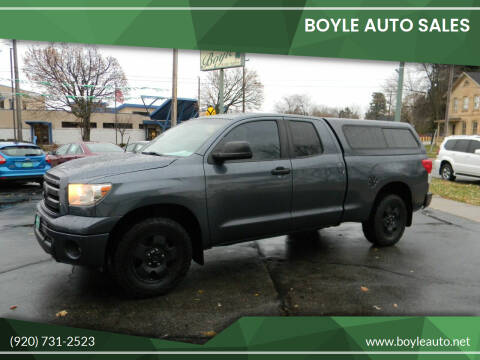 2010 Toyota Tundra for sale at Boyle Auto Sales in Appleton WI