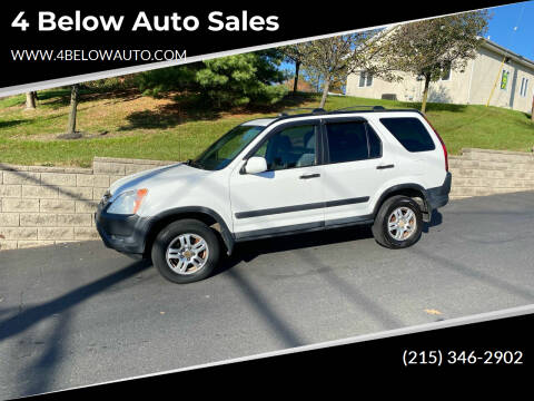 2003 Honda CR-V for sale at 4 Below Auto Sales in Willow Grove PA
