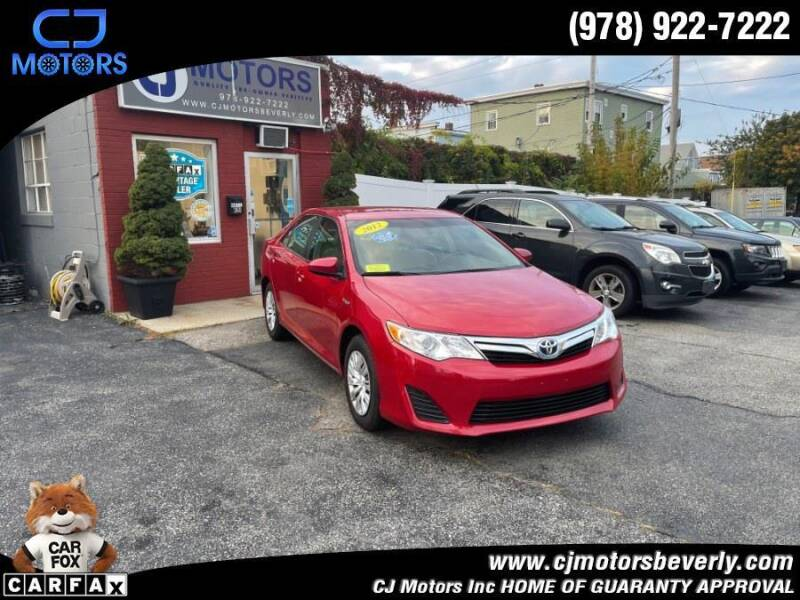 2012 Toyota Camry Hybrid for sale at CJ Motors Inc. in Beverly MA