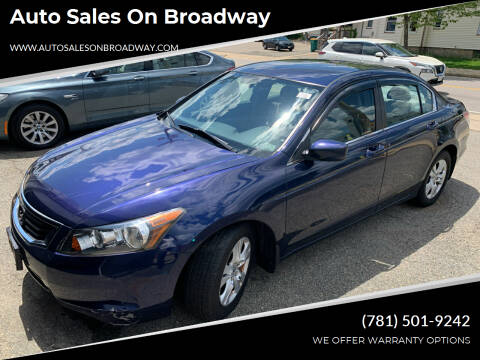 2008 Honda Accord for sale at Auto Sales on Broadway in Norwood MA