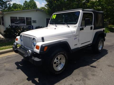 1998 Jeep Wrangler for sale at TR MOTORS in Gastonia NC