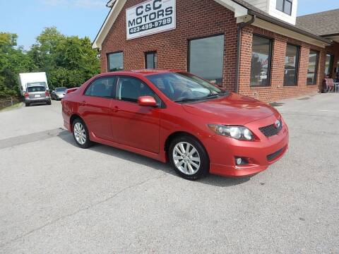 2010 Toyota Corolla for sale at C & C MOTORS in Chattanooga TN