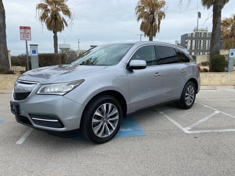 2016 Acura MDX for sale at Motorcars Group Management - Bud Johnson Motor Co in San Antonio TX