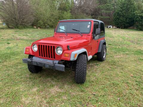 1999 Jeep Wrangler for sale at Samet Performance in Louisburg NC