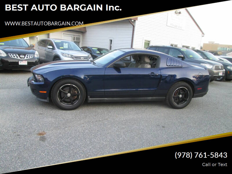 2011 Ford Mustang for sale at BEST AUTO BARGAIN inc. in Lowell MA