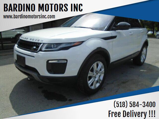 2017 Land Rover Range Rover Evoque for sale at BARDINO MOTORS INC in Saratoga Springs NY