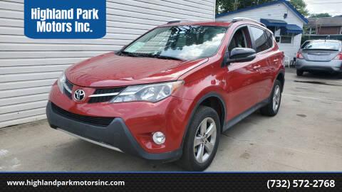 2015 Toyota RAV4 for sale at Highland Park Motors Inc. in Highland Park NJ
