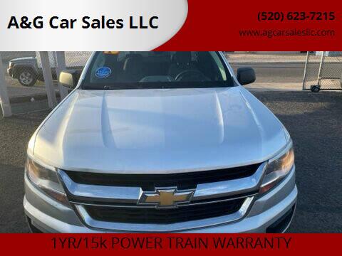 2016 Chevrolet Colorado for sale at A&G Car Sales  LLC in Tucson AZ