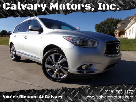 2013 Infiniti JX35 for sale at Calvary Motors, Inc. in Bixby OK