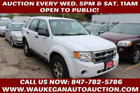 2008 Ford Escape for sale at Waukegan Auto Auction in Waukegan IL