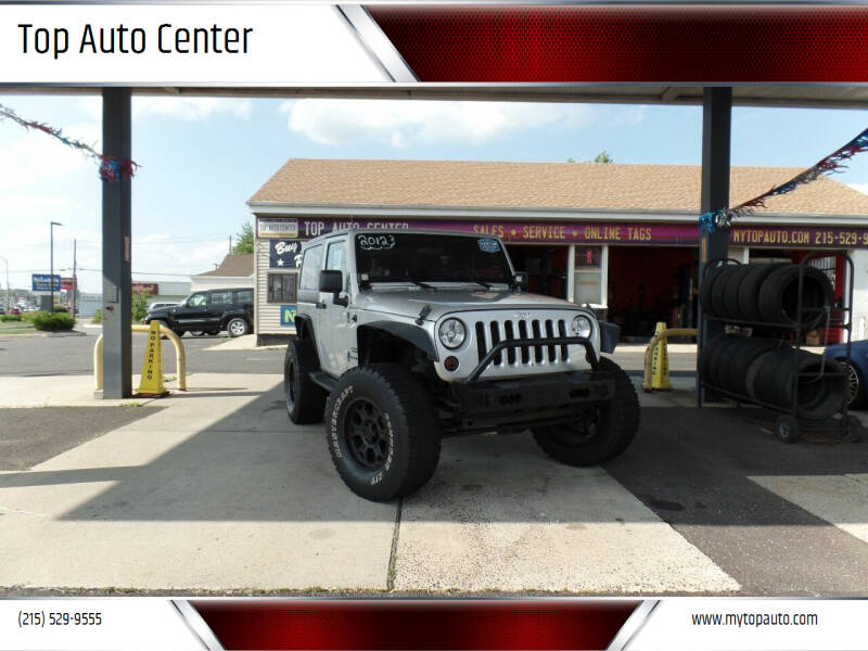 2012 Jeep Wrangler for sale at Top Auto Center in Quakertown PA