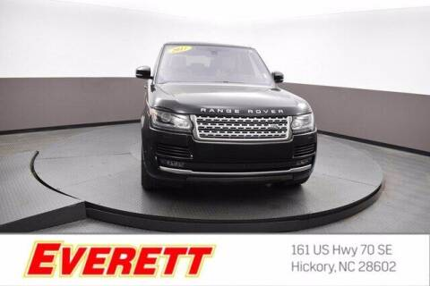 2017 Land Rover Range Rover for sale at Everett Chevrolet Buick GMC in Hickory NC