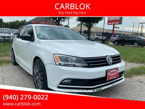 2016 Volkswagen Jetta for sale at CARBLOK in Lewisville TX