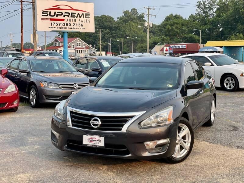 2013 Nissan Altima for sale at Supreme Auto Sales in Chesapeake VA