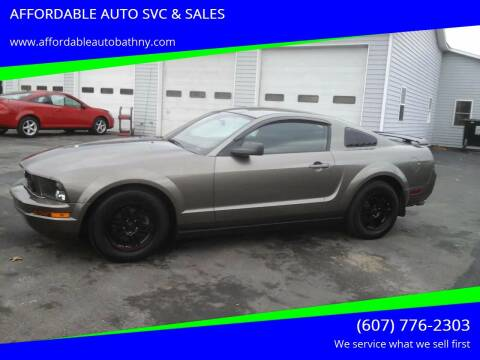 2005 Ford Mustang for sale at AFFORDABLE AUTO SVC & SALES in Bath NY