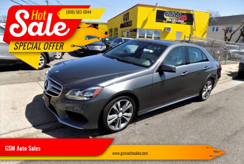 2014 Mercedes-Benz E-Class for sale at GSM Auto Sales in Linden NJ