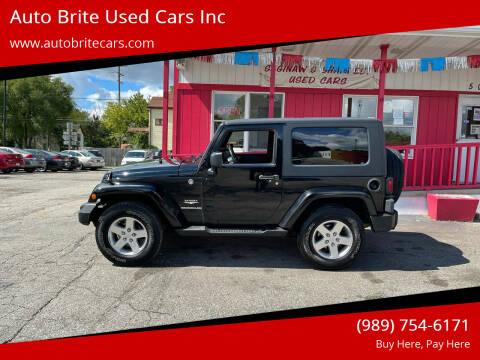 2009 Jeep Wrangler for sale at Auto Brite Used Cars Inc in Saginaw MI