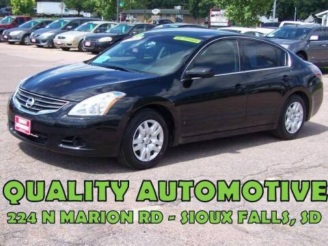 2012 Nissan Altima for sale at Quality Automotive in Sioux Falls SD