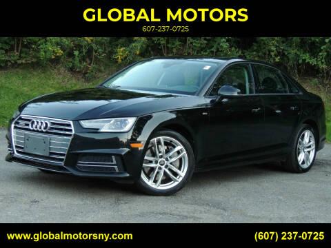 2017 Audi A4 for sale at GLOBAL MOTORS in Binghamton NY