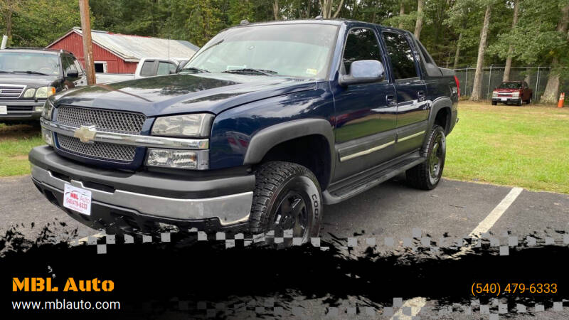 2005 Chevrolet Avalanche for sale at MBL Auto Woodford in Woodford VA