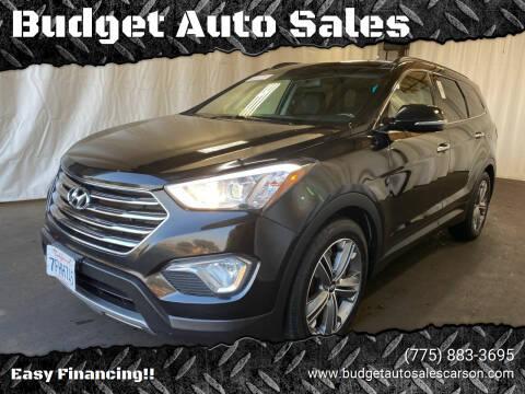 2014 Hyundai Santa Fe for sale at Budget Auto Sales in Carson City NV