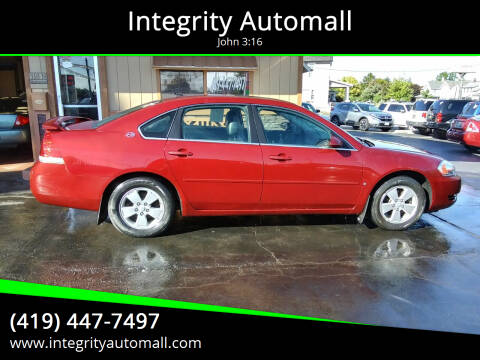 2008 Chevrolet Impala for sale at Integrity Automall in Tiffin OH