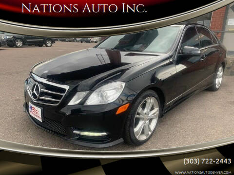 2013 Mercedes-Benz E-Class for sale at Nations Auto Inc. in Denver CO