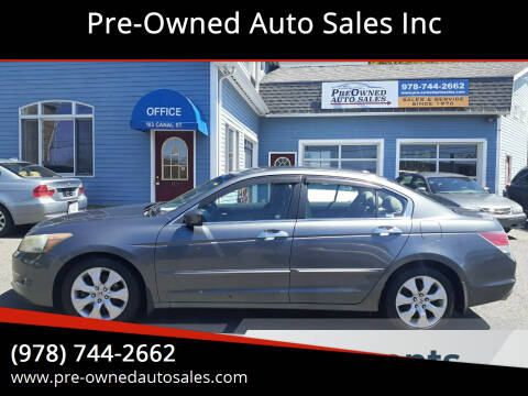 2008 Honda Accord for sale at Pre-Owned Auto Sales Inc in Salem MA