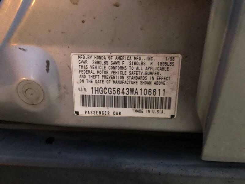 1998 Honda Accord LX 4dr Sedan - Virginia Beach VA
