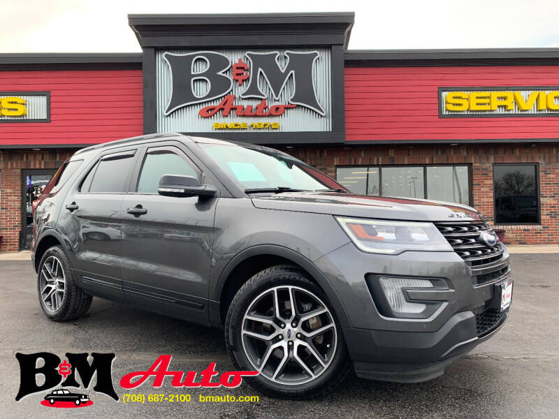 2017 Ford Explorer for sale at B & M Auto Sales Inc. in Oak Forest IL