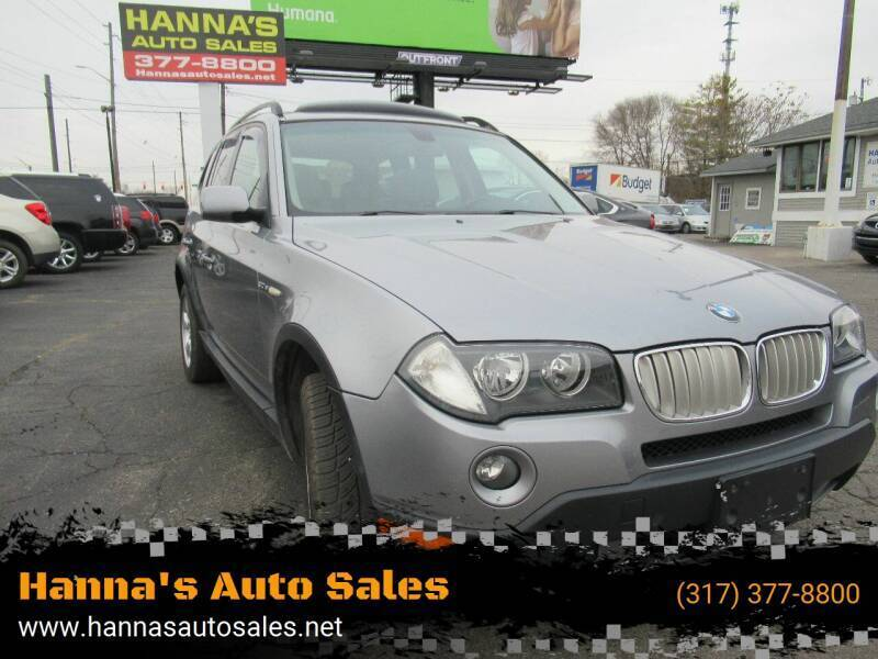 2008 BMW X3 for sale at Hanna's Auto Sales in Indianapolis IN