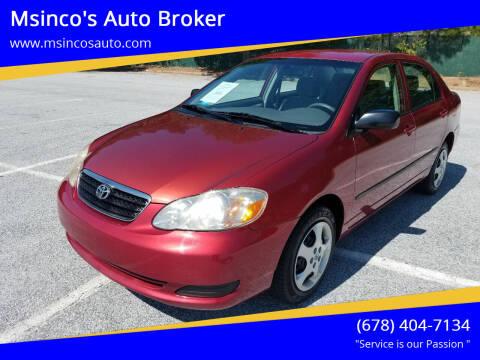 2008 Toyota Corolla for sale at Msinco's Auto Broker in Snellville GA