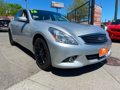 2013 Infiniti G37 Sedan for sale at TOP SHELF AUTOMOTIVE in Newark NJ