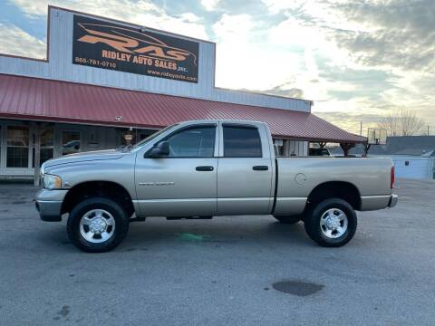 2004 Dodge Ram Pickup 2500 for sale at Ridley Auto Sales, Inc. in White Pine TN
