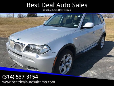 2010 BMW X3 for sale at Best Deal Auto Sales in Saint Charles MO