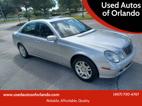 2004 Mercedes-Benz E-Class for sale at Used Autos of Orlando in Orlando FL