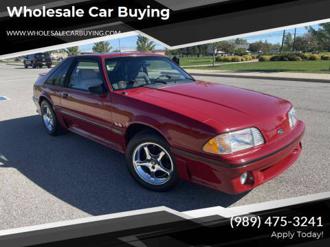 1988 Ford Mustang for sale at Wholesale Car Buying in Saginaw MI