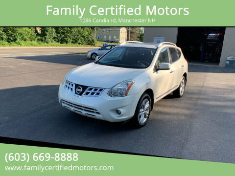 2013 Nissan Rogue for sale at Family Certified Motors in Manchester NH